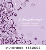 greeting violet card | Shutterstock .eps vector #66518038