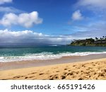 napili bay beach on the... | Shutterstock . vector #665191426