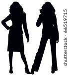 Silhouette of two girls
