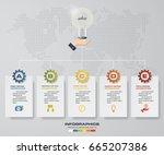 5 steps timeline infographic... | Shutterstock .eps vector #665207386