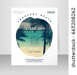 beach party invitation | Shutterstock .eps vector #665208262