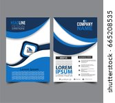 brochure template flyer design... | Shutterstock .eps vector #665208535