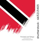 flag of trinidad and tobago ... | Shutterstock .eps vector #665215405