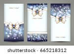 christmas greeting cards | Shutterstock .eps vector #665218312