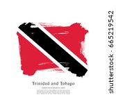 flag of trinidad and tobago ... | Shutterstock .eps vector #665219542