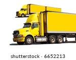 articulated semi trucks   Shutterstock . vector #6652213