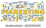 vector creative illustration of ... | Shutterstock .eps vector #665224645