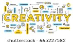 vector creative illustration of ... | Shutterstock .eps vector #665227582