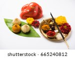 indian sweets modak which is... | Shutterstock . vector #665240812