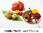 indian festival   indian sweet... | Shutterstock . vector #665240812