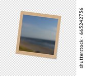 photo frame with shadow on a... | Shutterstock .eps vector #665242756