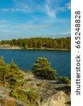 the archipelago sea is finland... | Shutterstock . vector #665248828