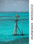 Wooden Fishing Tower Hut  ...
