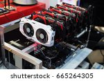 graphics card for digging... | Shutterstock . vector #665264305