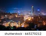 tbilisi  georgia. construction... | Shutterstock . vector #665270212