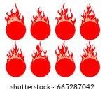 round fire icon | Shutterstock .eps vector #665287042