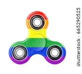 Fidget Spinner With Rainbow...