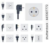 electric outlet vector... | Shutterstock .eps vector #665307772