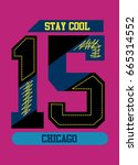 chicago stay cool t shirt print ... | Shutterstock .eps vector #665314552