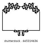 black and white silhouette... | Shutterstock .eps vector #665314636
