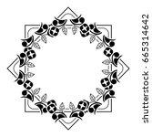 black and white silhouette... | Shutterstock .eps vector #665314642