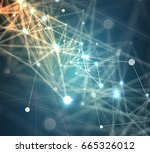 abstract global infinity... | Shutterstock .eps vector #665326012
