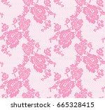 Seamless Vector Pink Lace...