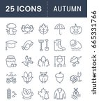 set of line icons  sign and... | Shutterstock . vector #665331766