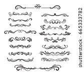 flourishes vintage. ornamental... | Shutterstock .eps vector #665333782