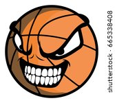 isolated basketball ball on a... | Shutterstock .eps vector #665338408