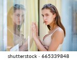 portrait close up of young... | Shutterstock . vector #665339848