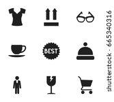 set of 9 editable business...
