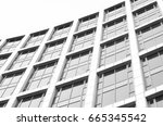 black and white city... | Shutterstock . vector #665345542