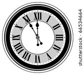 antique clock isolated | Shutterstock .eps vector #66534664