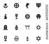 set of 16 editable religion... | Shutterstock .eps vector #665352052