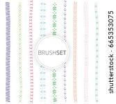 lines cute | Shutterstock .eps vector #665353075
