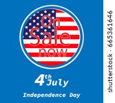 sale for american independence... | Shutterstock .eps vector #665361646