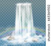 realistic transparent  nature ... | Shutterstock .eps vector #665364502