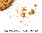 Biscuits With Crumbs Isolated...