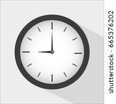 clock icon design. vector... | Shutterstock .eps vector #665376202