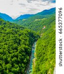 zip line adventure. in tara... | Shutterstock . vector #665377096