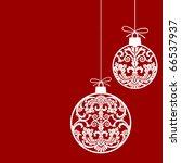 christmas ornaments balls | Shutterstock .eps vector #66537937