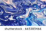 blue and pink hand painted... | Shutterstock . vector #665385466