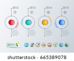 collection of vector... | Shutterstock .eps vector #665389078