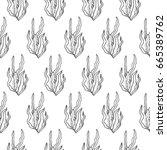 seaweed vector pattern | Shutterstock .eps vector #665389762