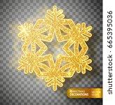 christmas decoration. gold... | Shutterstock .eps vector #665395036