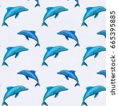 Watercolor Dolphin Pattern