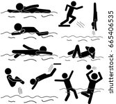 swimming sports as active life... | Shutterstock .eps vector #665406535
