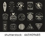 vintage surfing graphics and... | Shutterstock .eps vector #665409685