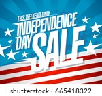 independence day sale vector... | Shutterstock .eps vector #665418322